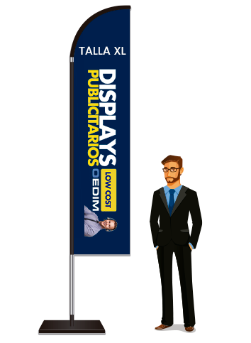 Fly Banner Tipo Vela Talla XL | Carteles XXL - Impresión carteleria publicitaria