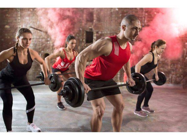 Fotomural Gimnasio Body Pump Barra Discos | Carteles XXL - Impresión carteleria publicitaria