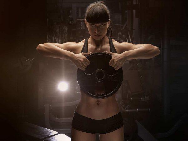 Fotomural Gimnasio Chica Body Pump | Carteles XXL - Impresión carteleria publicitaria