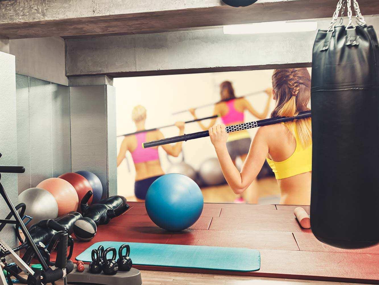 Fotomural Gimnasio Ejercicio Body Pump | Carteles XXL - Impresión carteleria publicitaria