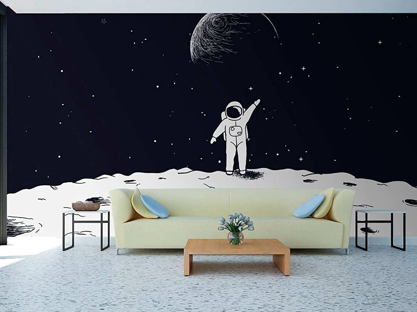 Fotomural Papel Pintado Astronauta en la Luna | Carteles XXL - Impresión carteleria publicitaria
