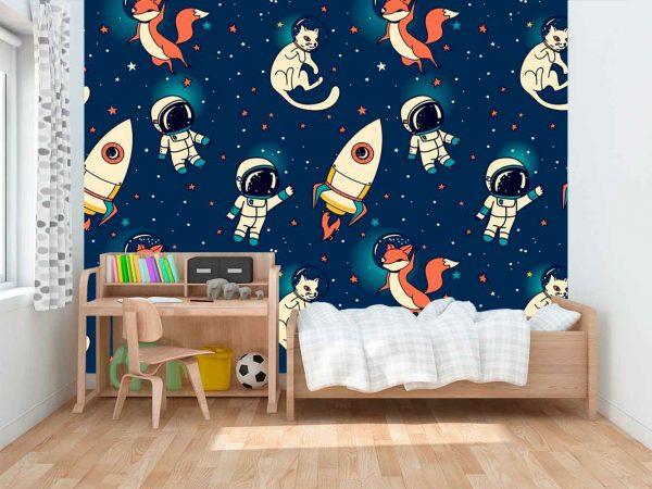 Fotomural Papel Pintado Astronautas | Carteles XXL - Impresión carteleria publicitaria