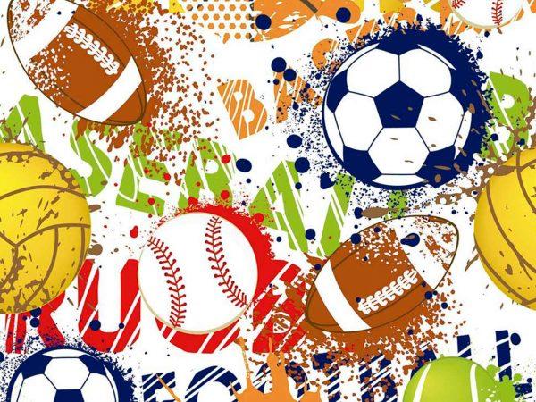 Fotomural Papel Pintado Balones Deportes | Carteles XXL - Impresión carteleria publicitaria