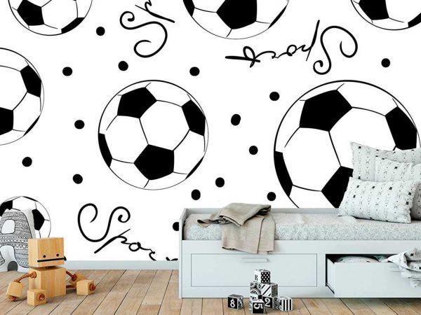 Fotomural Papel Pintado Balones Fútbol | Carteles XXL - Impresión carteleria publicitaria