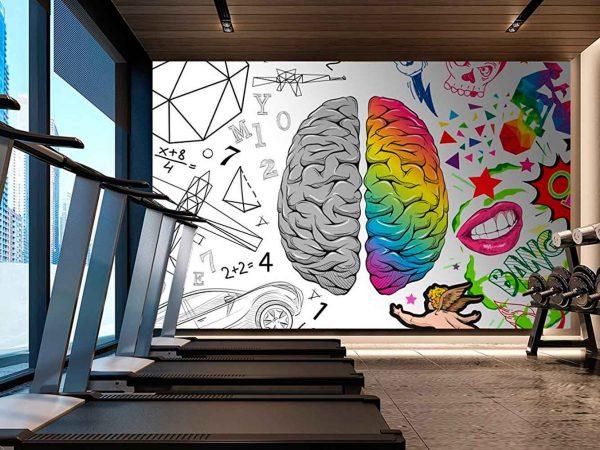 Fotomural Papel Pintado Cómic Cerebro | Carteles XXL - Impresión carteleria publicitaria