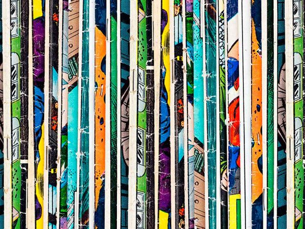 Fotomural Papel Pintado Cómic Líneas Verticales | Carteles XXL - Impresión carteleria publicitaria