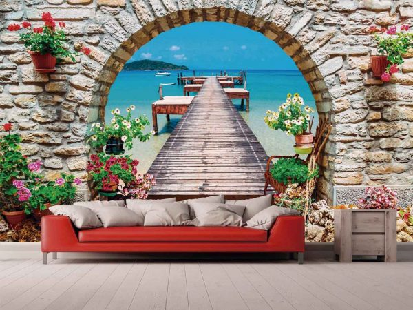 Fotomural Papel Pintado Embarcadero Floral | Carteles XXL - Impresión carteleria publicitaria