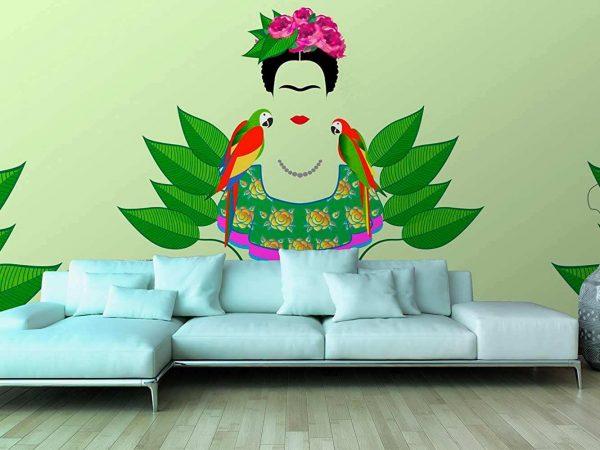 Fotomural Papel Pintado Frida Kahlo Loros   Carteles XXL - Impresión carteleria publicitaria