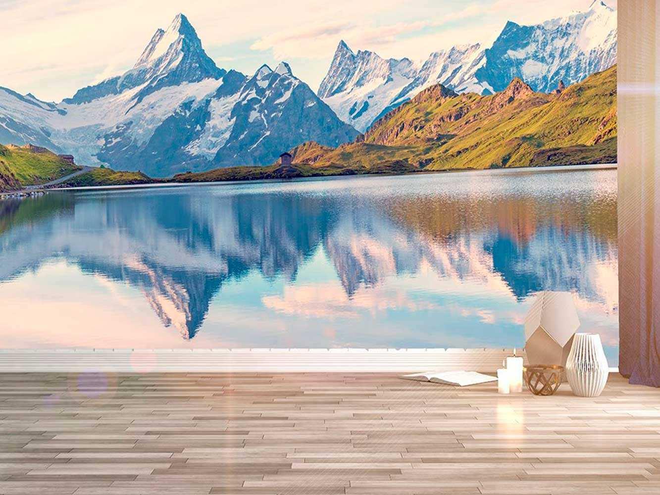 Fotomural Papel Pintado Montañas Alpes Suizos | Carteles XXL - Impresión carteleria publicitaria