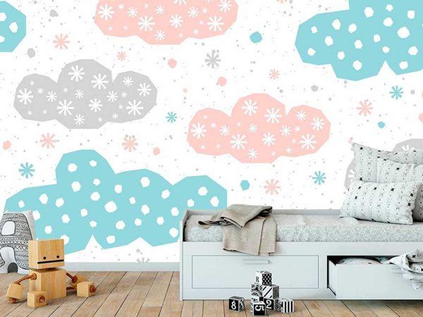 Fotomural Papel Pintado Nubes Colores | Carteles XXL - Impresión carteleria publicitaria