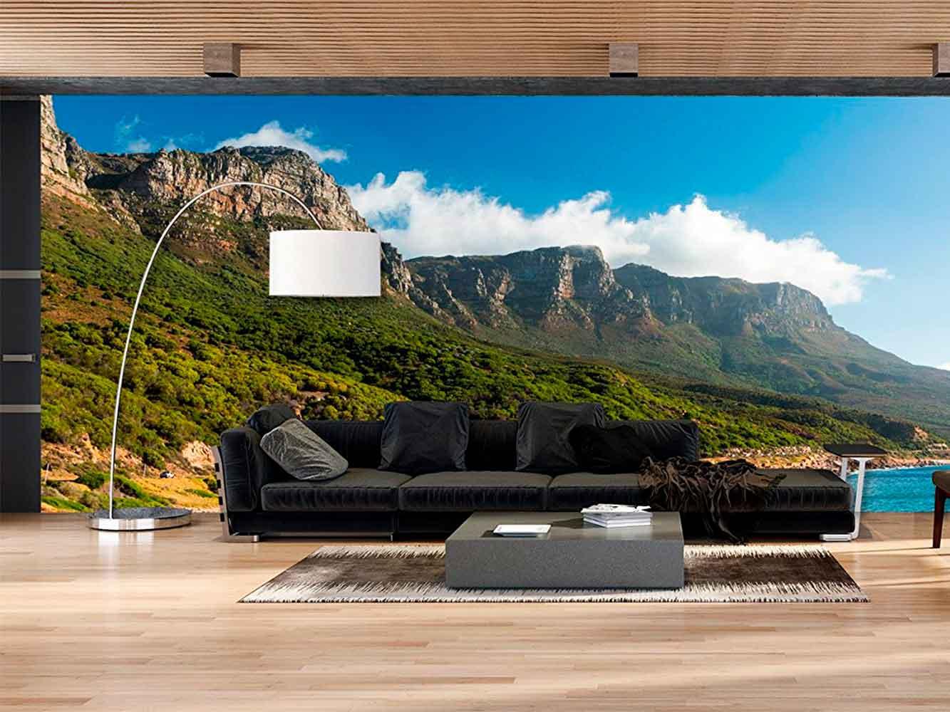 Fotomural Papel Pintado Paisaje Montañas Verdes | Carteles XXL - Impresión carteleria publicitaria