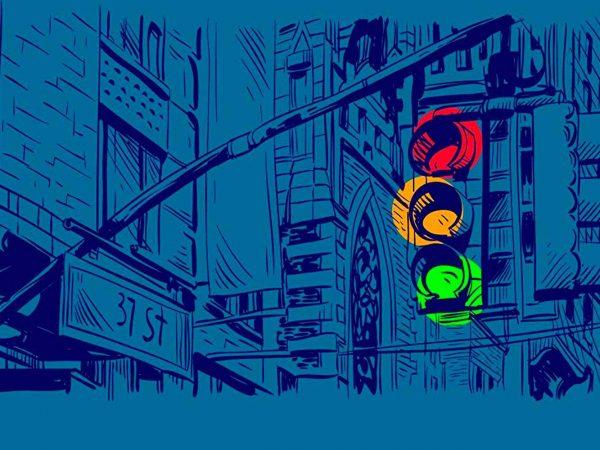 Fotomural Papel Pintado Cómic Semáforo | Carteles XXL - Impresión carteleria publicitaria