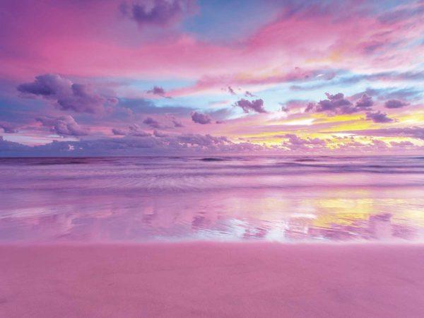 Fotomural Vinilo Amanecer Nubes Rosadas | Carteles XXL - Impresión carteleria publicitaria