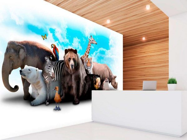 Fotomural Vinilo Animales Salvajes | Carteles XXL - Impresión carteleria publicitaria