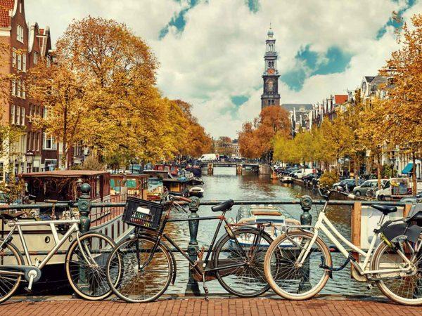 Fotomural Vinilo Canal de Amsterdam | Carteles XXL - Impresión carteleria publicitaria