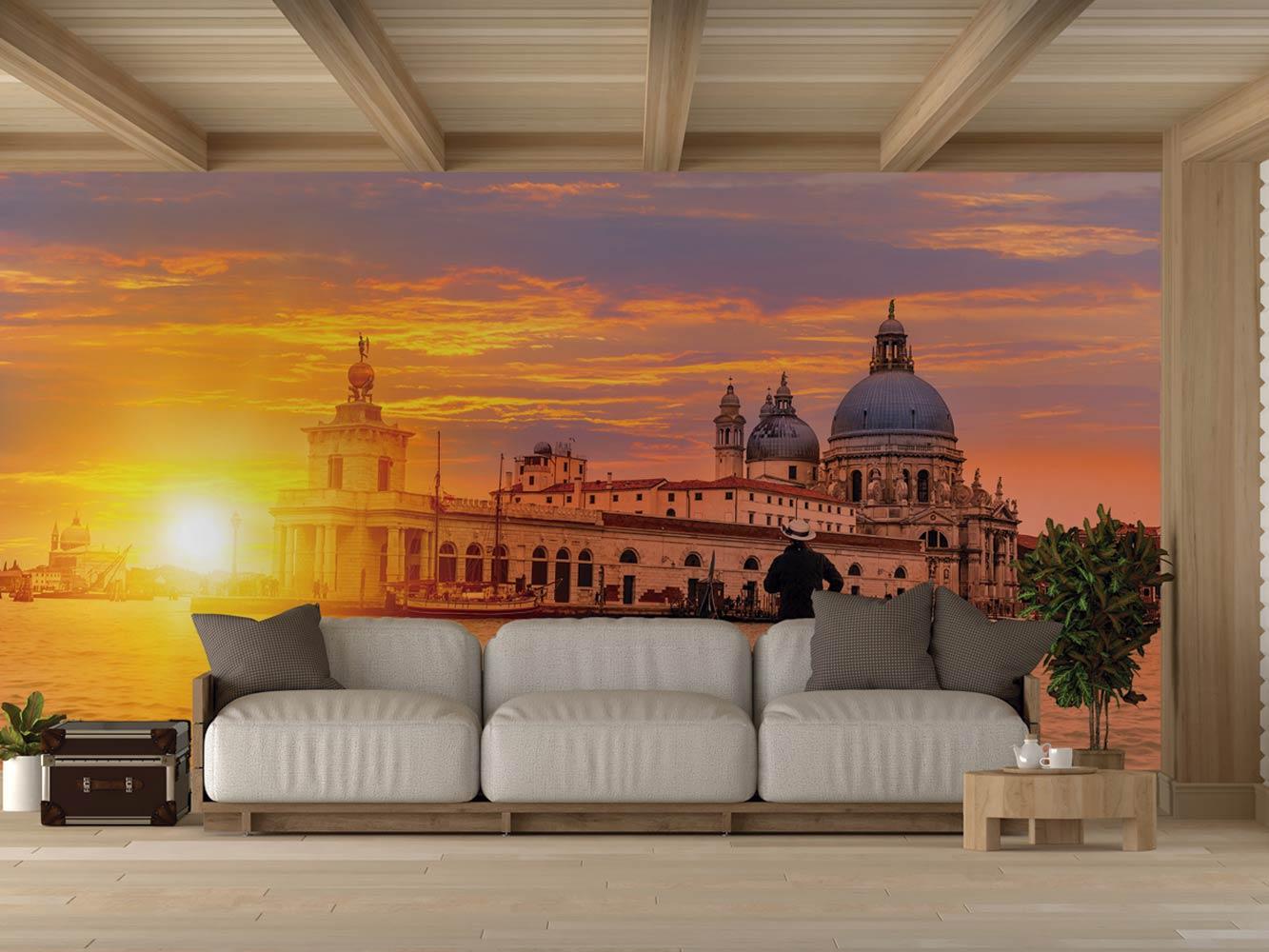 Fotomural Vinilo Canal de Venecia Atardecer | Carteles XXL - Impresión carteleria publicitaria