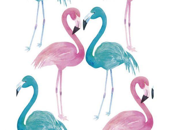 Fotomural Vinilo Flamencos Rosa Azul | Carteles XXL - Impresión carteleria publicitaria