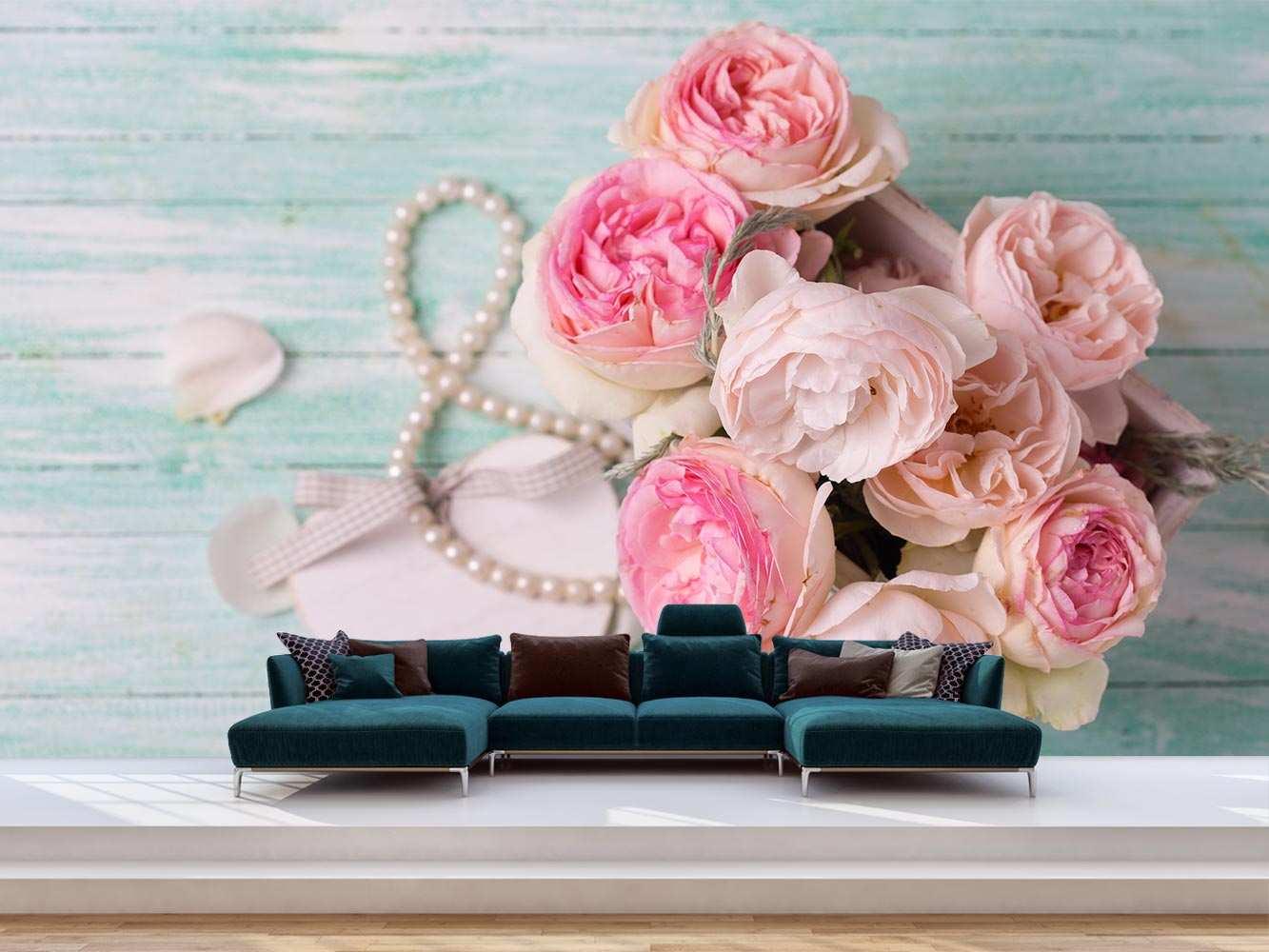 Fotomural Vinilo Floral Ramo Rosas | Carteles XXL - Impresión carteleria publicitaria
