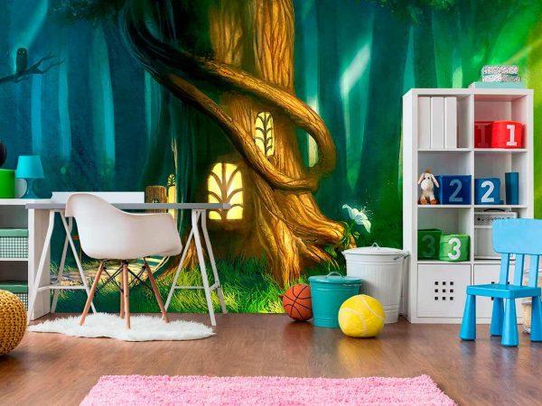 Fotomural Vinilo Infantil Casa Árbol   Carteles XXL - Impresión carteleria publicitaria