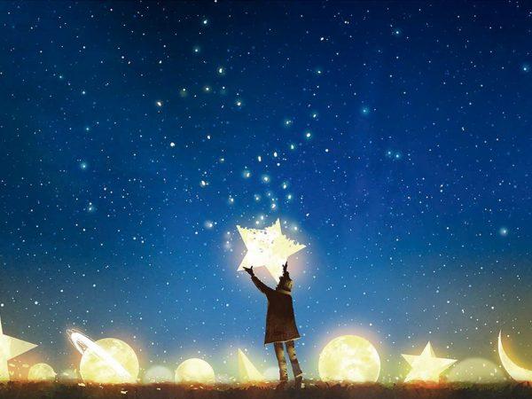 Fotomural Vinilo Infantil Cielo de Estrellas | Carteles XXL - Impresión carteleria publicitaria