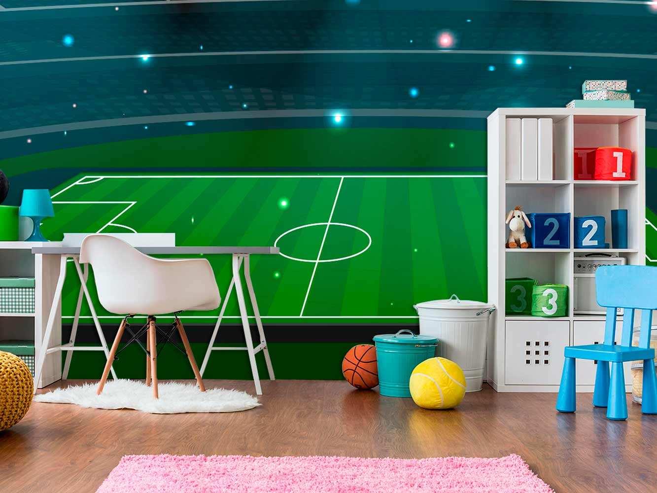 Fotomural Vinilo Infantil Estadio de Fútbol | Carteles XXL - Impresión carteleria publicitaria