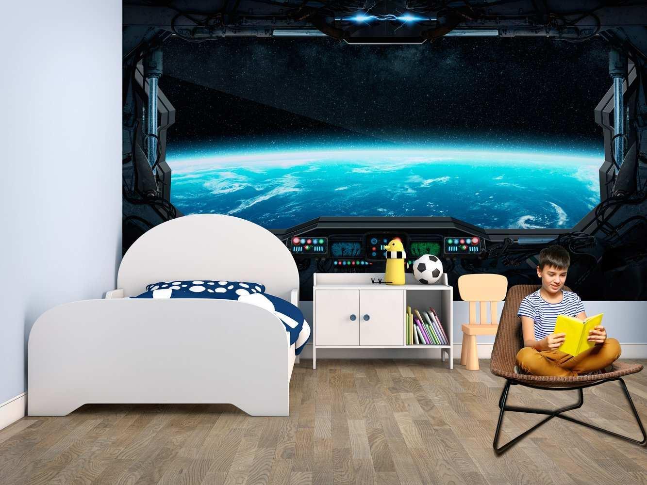 Fotomural Vinilo Infantil Futurista Vistas Espaciales | Carteles XXL - Impresión carteleria publicitaria