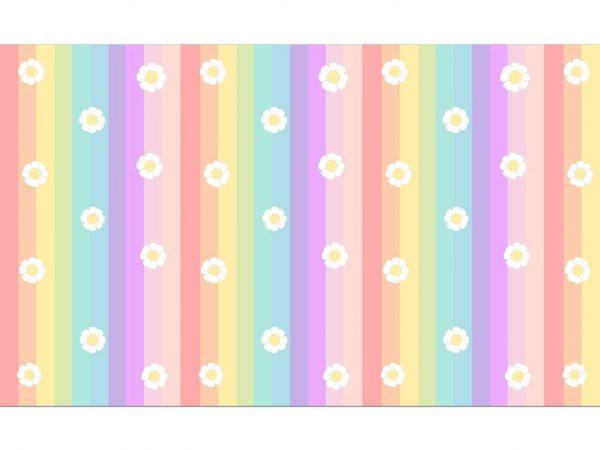 Fotomural Vinilo Infantil Margaritas Multicolor   Carteles XXL - Impresión carteleria publicitaria