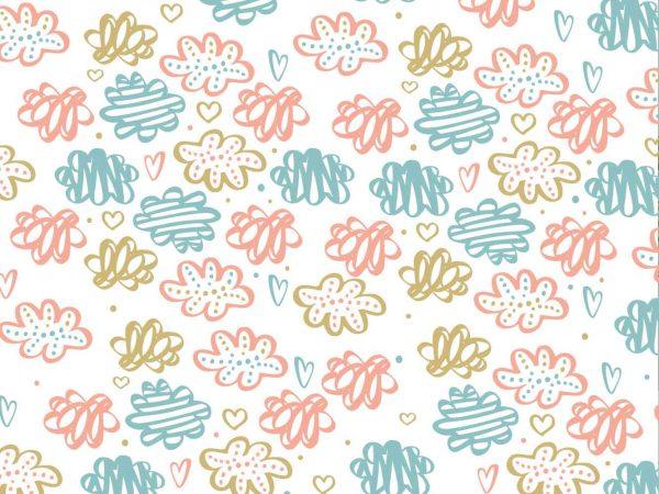 Fotomural Vinilo Infantil Nubes Colores | Carteles XXL - Impresión carteleria publicitaria