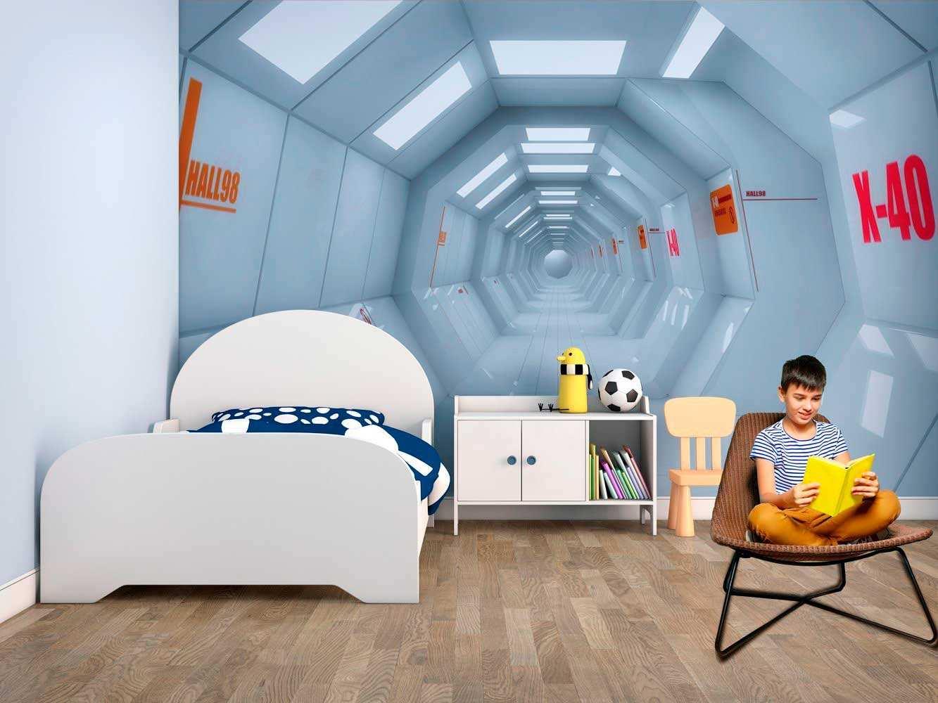 Fotomural Vinilo Infantil Pasillo Nave Espacial | Carteles XXL - Impresión carteleria publicitaria