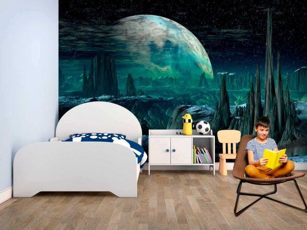 Fotomural Vinilo Infantil Planeta Alien | Carteles XXL - Impresión carteleria publicitaria