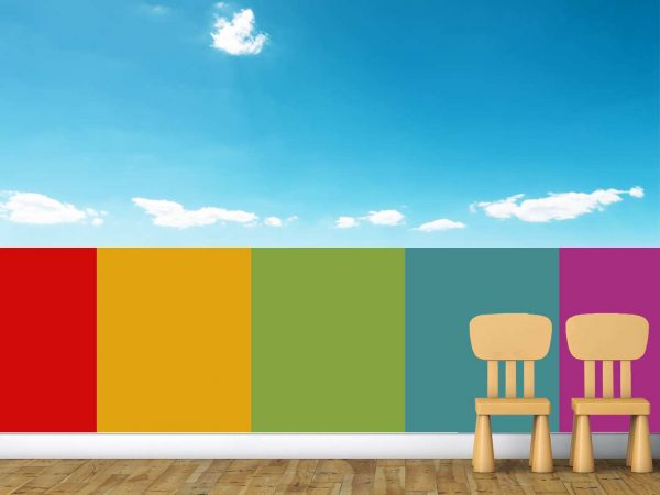 Fotomural Vinilo Infantil Valla Multicolor   Carteles XXL - Impresión carteleria publicitaria
