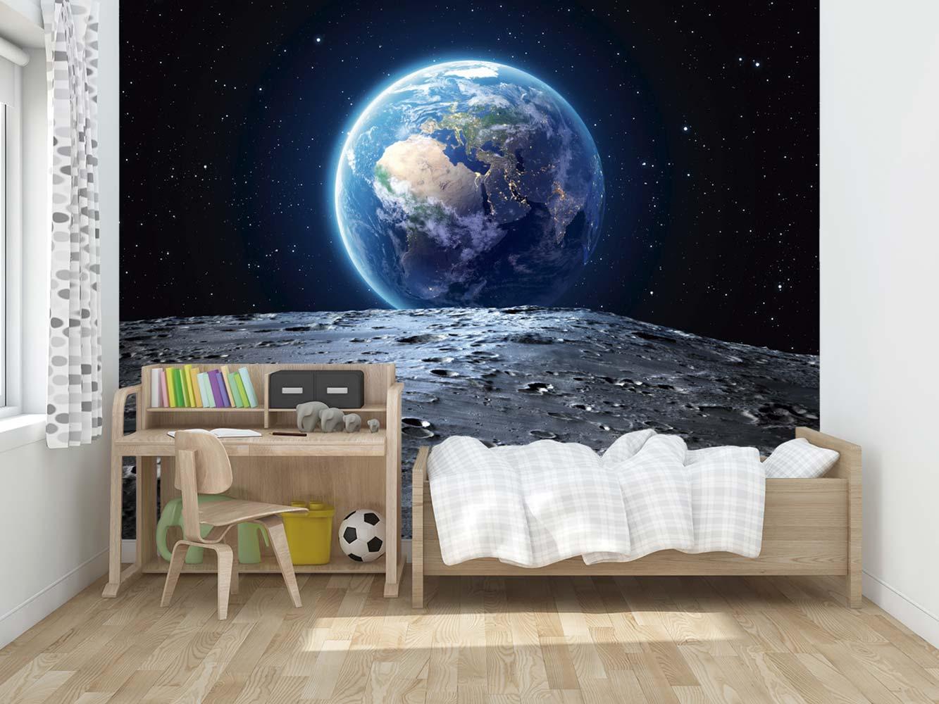 Fotomural Vinilo La Tierra desde la Luna   Carteles XXL - Impresión carteleria publicitaria