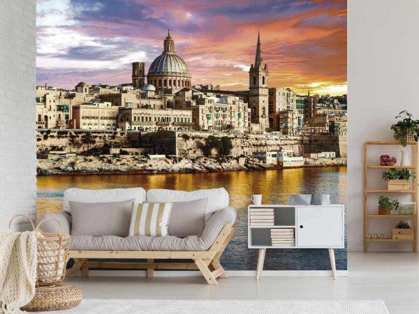 Fotomural Vinilo La Valeta Malta | Carteles XXL - Impresión carteleria publicitaria