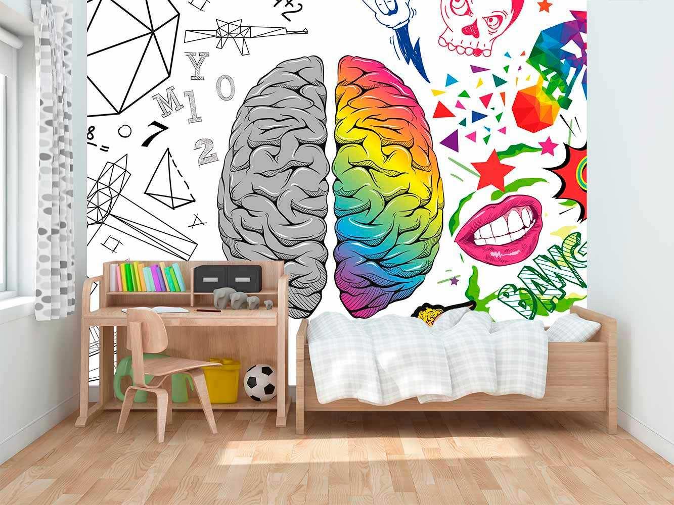 Fotomural Vinilo Infantil Lógica Creatividad | Carteles XXL - Impresión carteleria publicitaria