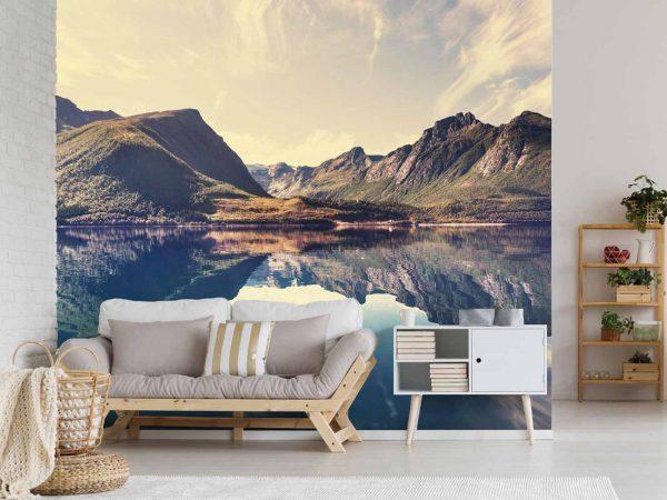 Fotomural Vinilo Montañas Noruegas | Carteles XXL - Impresión carteleria publicitaria