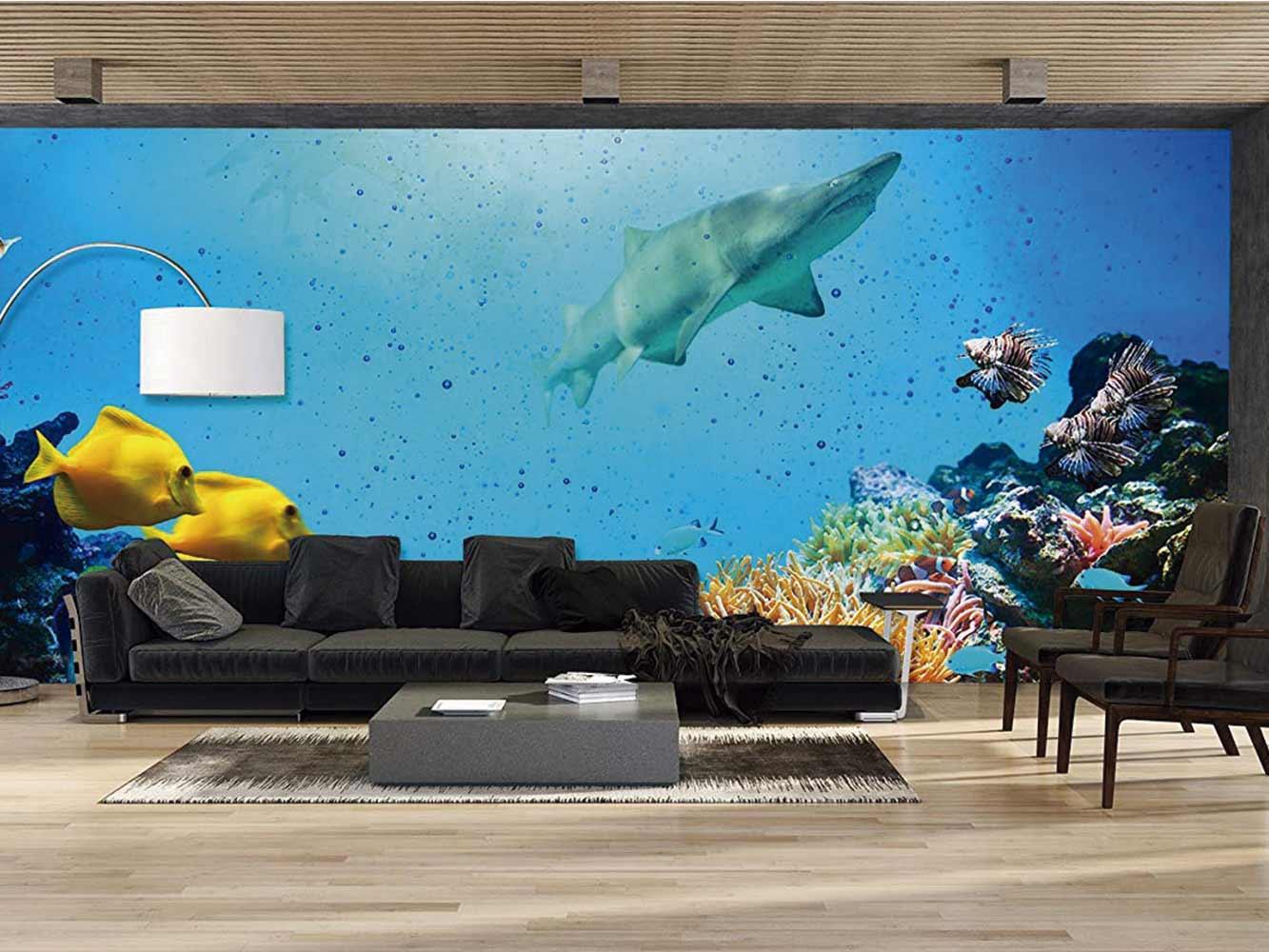 Fotomural Vinilo Océano Tiburones   Carteles XXL - Impresión carteleria publicitaria