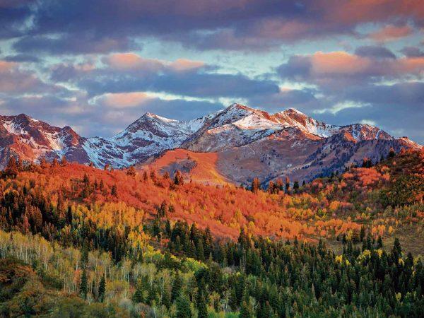 Fotomural Vinilo Paisaje Montañas Utah   Carteles XXL - Impresión carteleria publicitaria