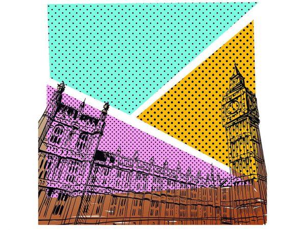 Fotomural Vinilo Cómic Londres | Carteles XXL - Impresión carteleria publicitaria