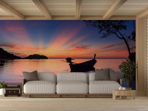 Fotomural Vinilo Playa Atardecer Railay Tailandia | Carteles XXL - Impresión carteleria publicitaria