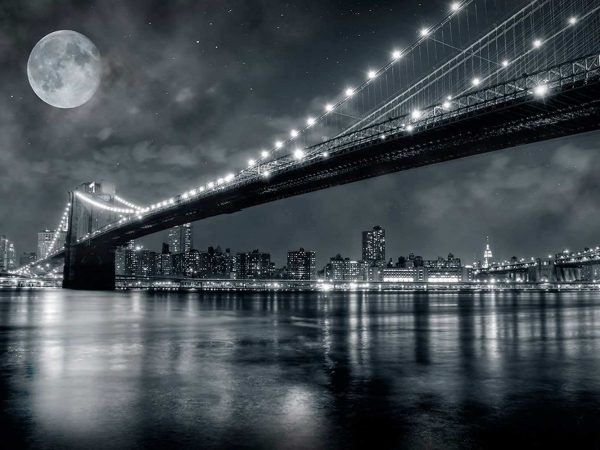 Fotomural Vinilo Nueva York Blanco Negro | Carteles XXL - Impresión carteleria publicitaria