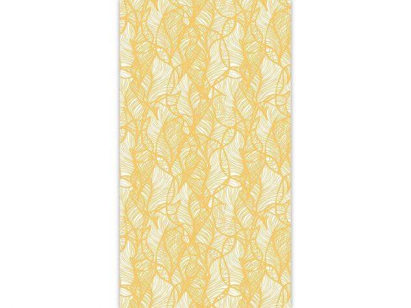 Papel Pintado Hojas Abstractas Amarillo | Carteles XXL - Impresión carteleria publicitaria