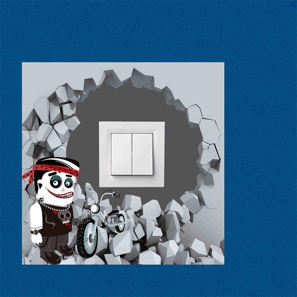 Vinilo interruptor Frankenstein 30x30cm | Carteles XXL - Impresión carteleria publicitaria