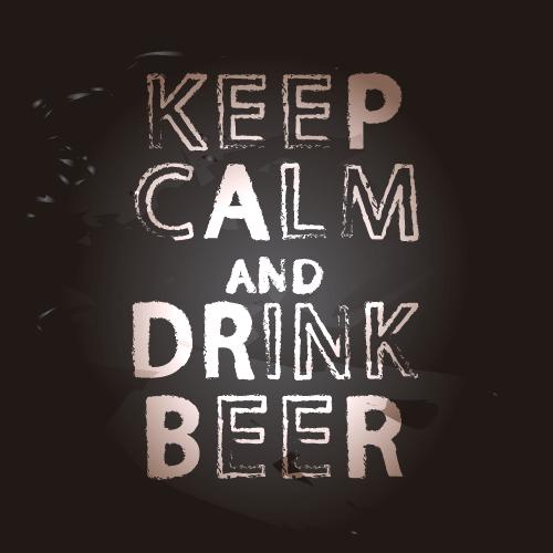 Vinilo Decorativo Keep Calm Drink Beer | Carteles XXL - Impresión carteleria publicitaria