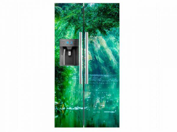 Vinilo Frigorífico Lago Iluminado | Carteles XXL - Impresión carteleria publicitaria