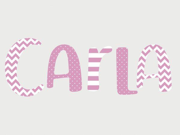 Letras Vinilo Infantiles Rayadas Personalizadas | Carteles XXL - Impresión carteleria publicitaria