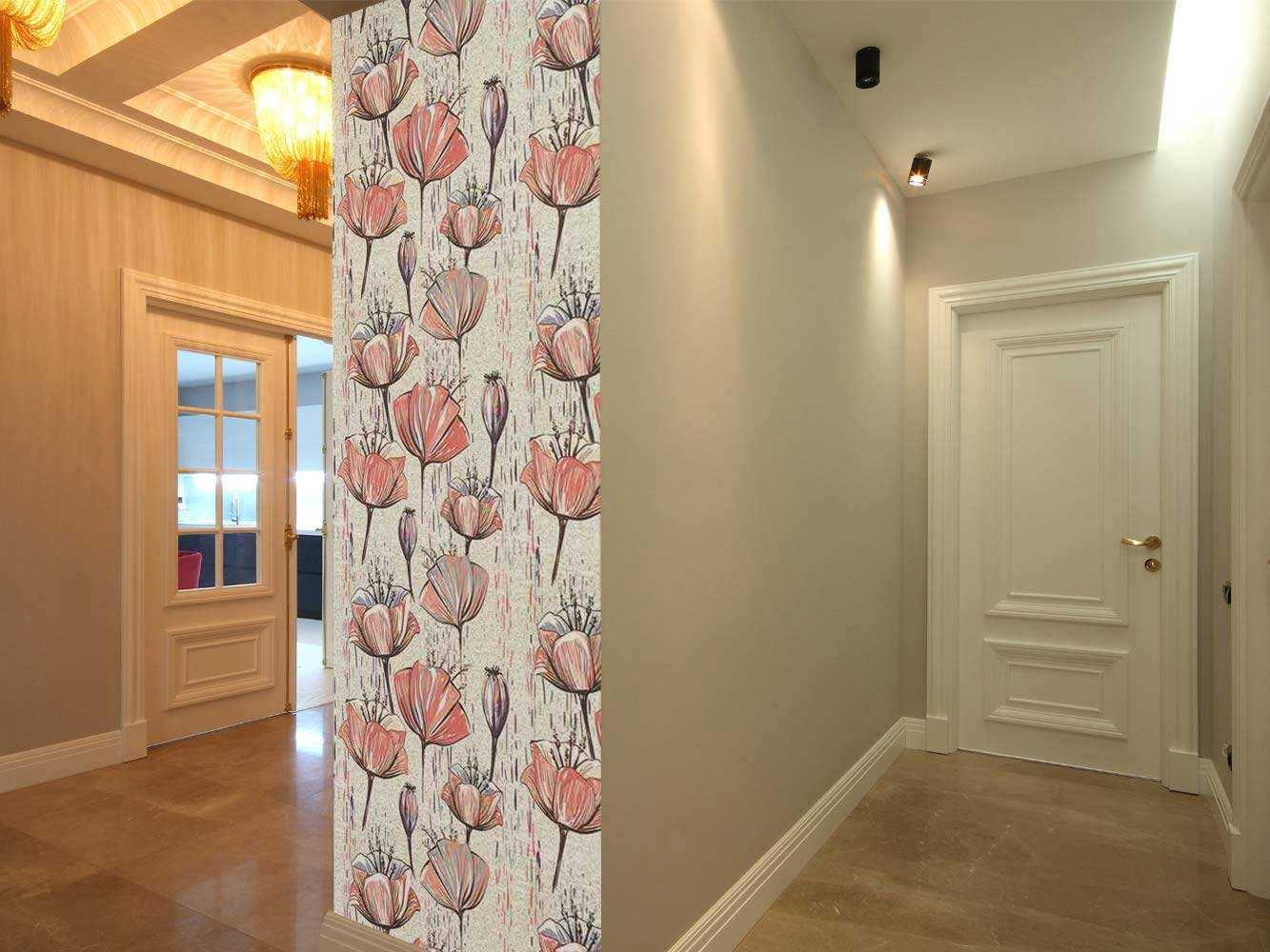 Cenefa Vertical Lirios Rosas | Carteles XXL - Impresión carteleria publicitaria