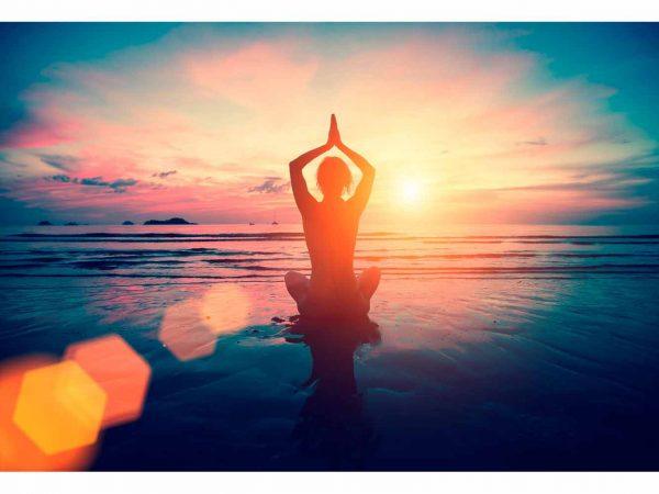 Vinilo Frigorífico Meditación Playa | Carteles XXL - Impresión carteleria publicitaria