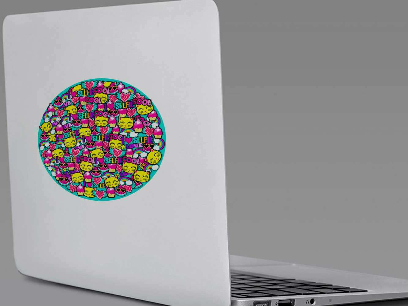 Vinilo Adhesivo Círculo de Colores   Carteles XXL - Impresión carteleria publicitaria