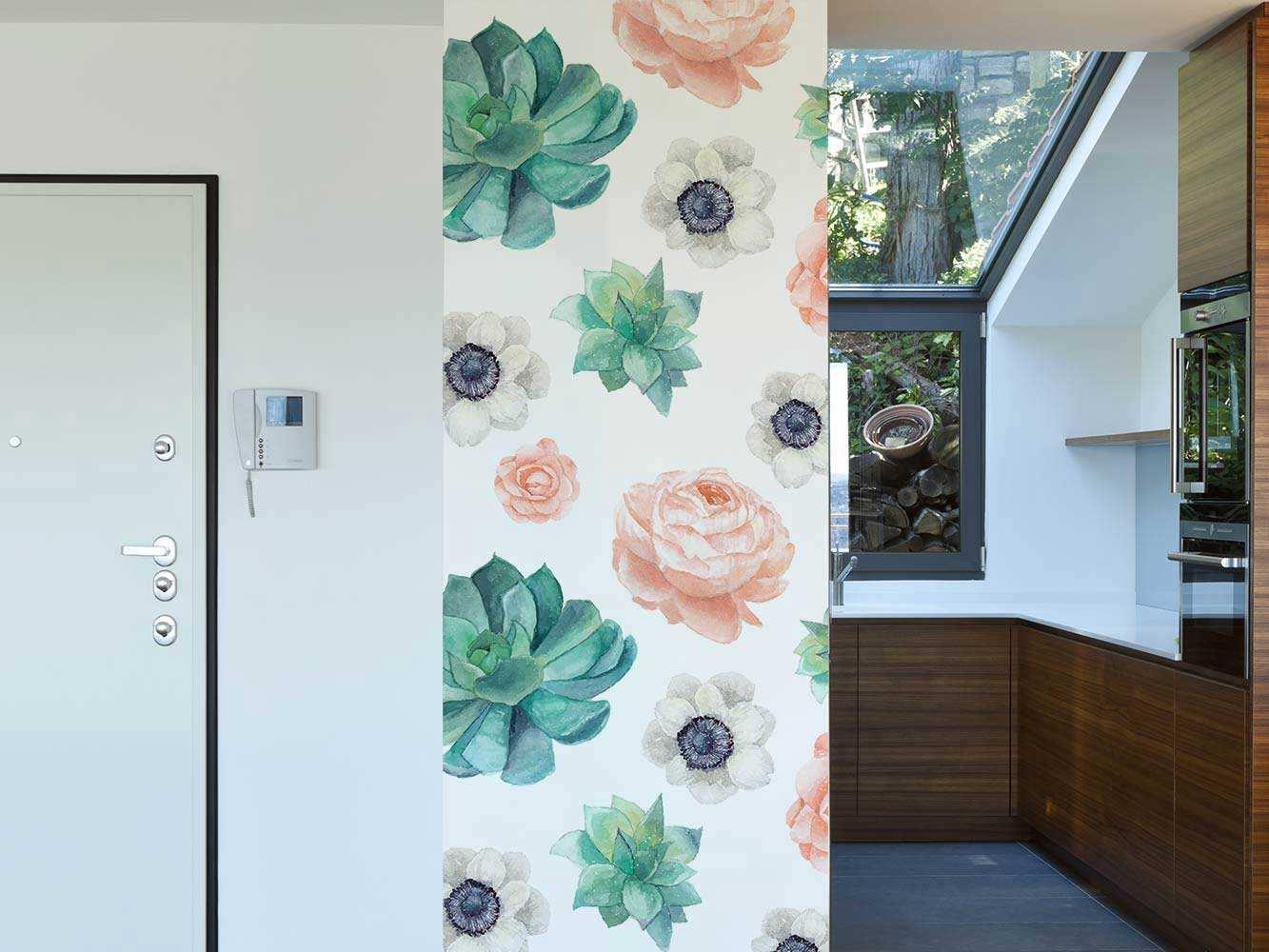 Cenefa Vertical Flores de Acuarela | Carteles XXL - Impresión carteleria publicitaria