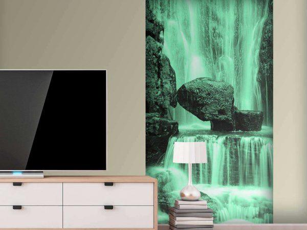 Papel Pintado Cascada Verdosa | Carteles XXL - Impresión carteleria publicitaria